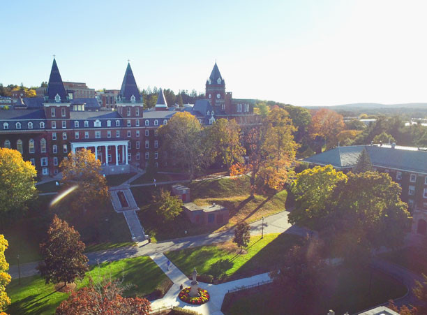 The Holy Cross Campus in Worcester, Mass.