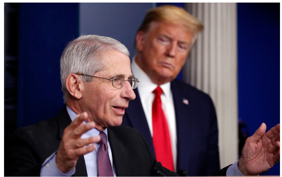 Trump did his best to squelch Dr. Fauci's blunt pronouncements about Covid-19