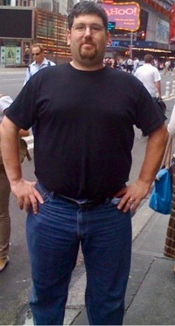 In Times Square the summer of 2009 before I turned 40