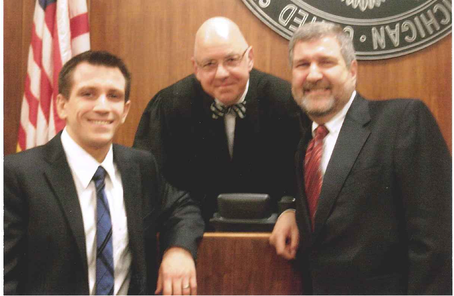 Nathan Fink, US District Judge Mark Goldsmith and the author, at his son's swearing in November, 2011