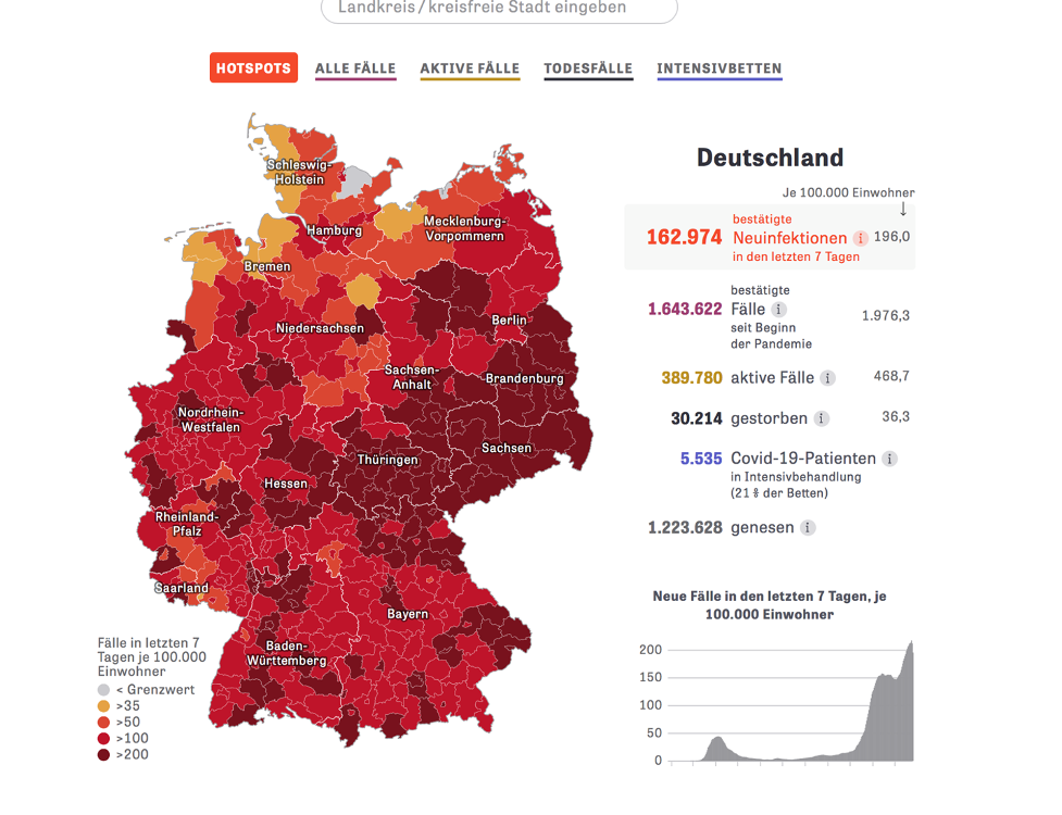 COVID-19 cases in Germany