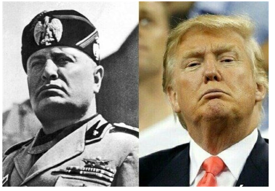Trump's photo-op on the Truman Balcony reminded many of the speeches of fascist Italian dictator Benito Mussolini