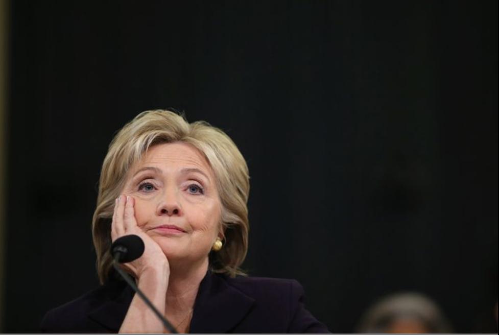 2016 presidential contender Hillary Clinton at the Benhazi hearings