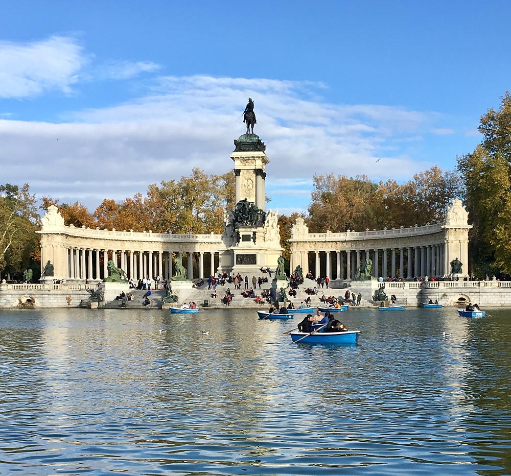 Parque El Retiro in Madrid, Spain