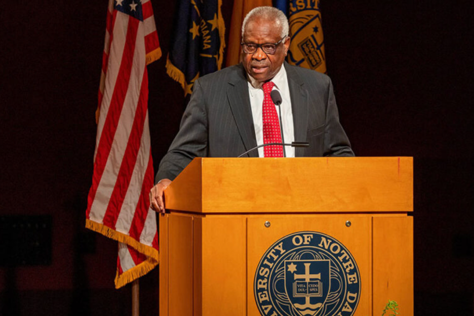 Clarence Thomas finally spoke, but only to support himself and his right-wing brethren