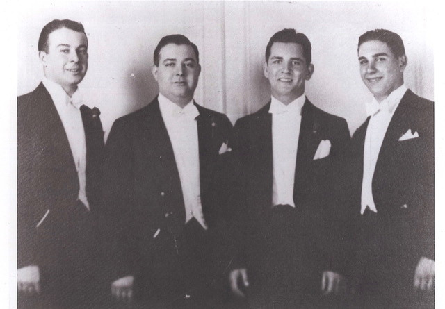 The athletic Fishman brothers (from L to R): Manny, Ben, Herman, Mickey