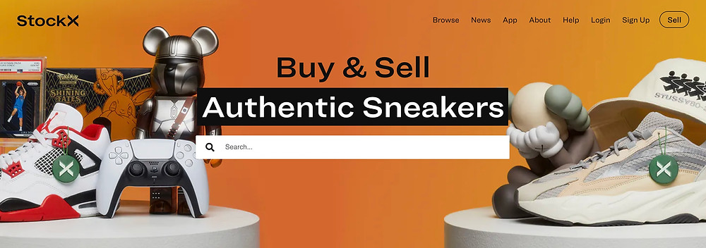 The StockX home page