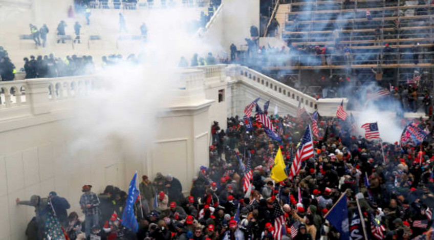 Police used tear gas on January 6 at the Capitol in an attempt to restore order