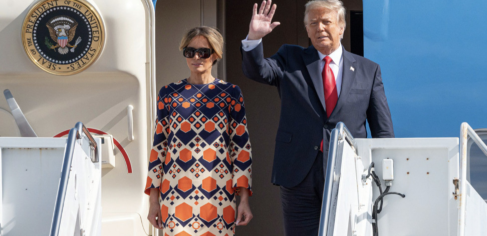 Donald and Melania Trump en route in January to their new life in Florida
