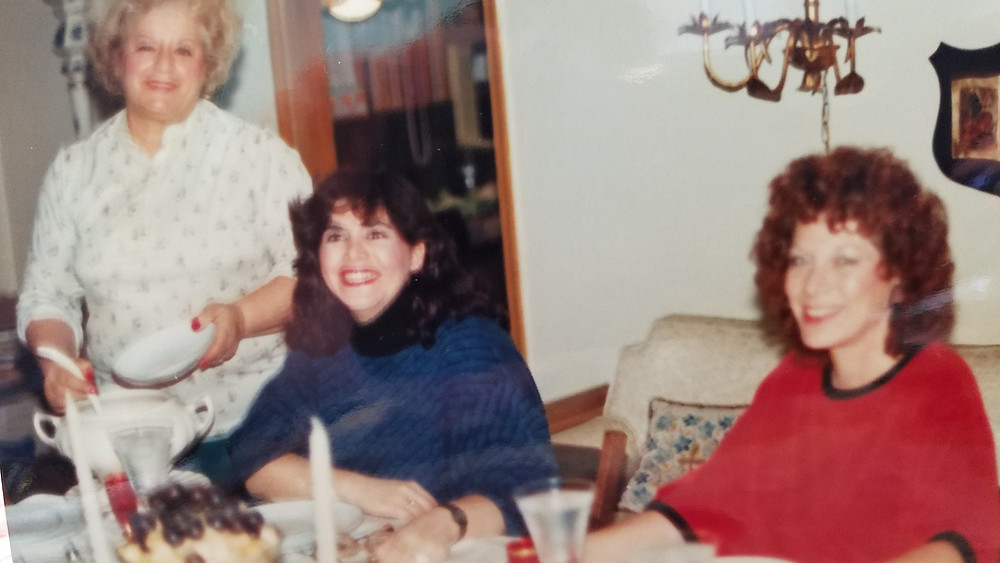 Author's mother, Ruth Katz; the author, Merrill Hansen; author's sister, Leslee Roland (left to right)