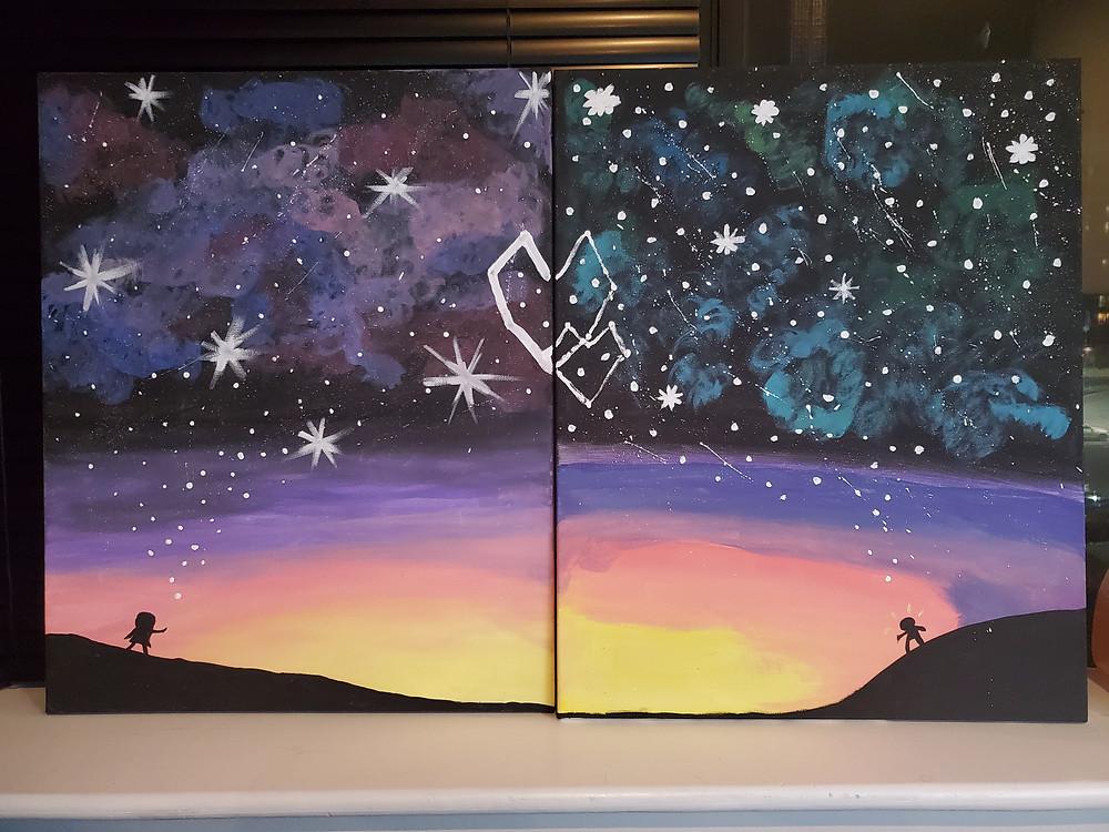 A romantic couples Paint Nite.
