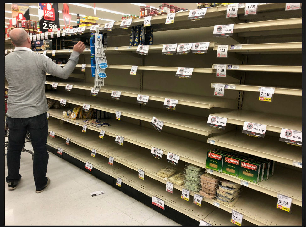 Panicked shoppers emptied store shelves in the first months of the pandemic