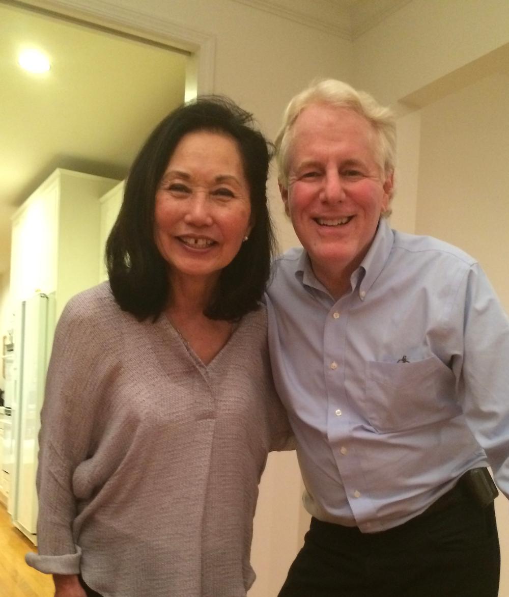 Vaccination Determination: Fayth Yoshimura and Tony Shields at home