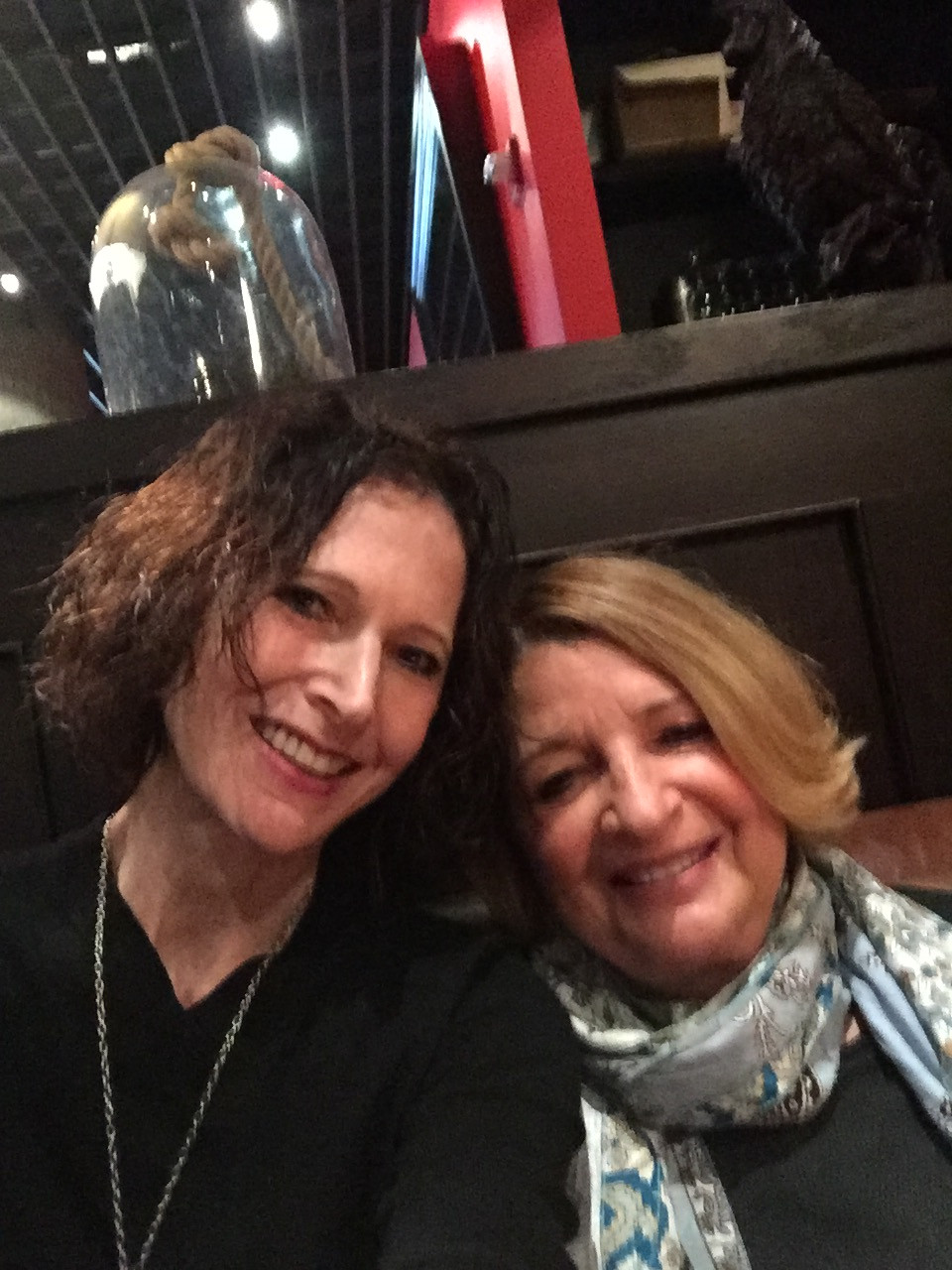 The author and Nancy, celebrating their friendship at Casa Nonna