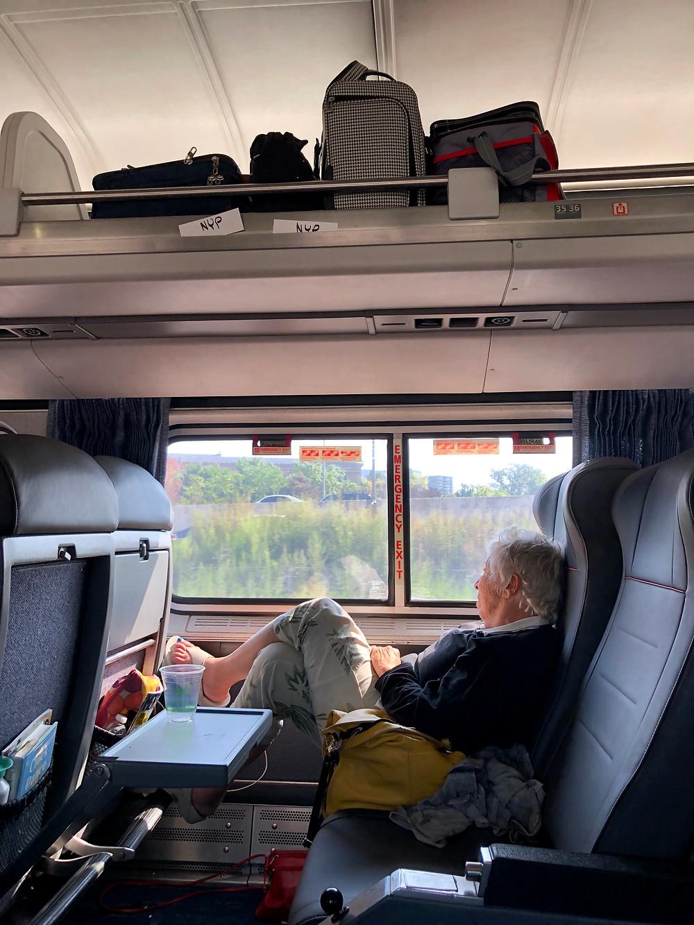 The author en route