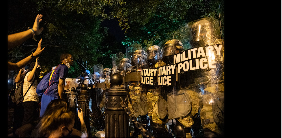 In June, peaceful Black Lives Matters protestors were met by force across from the White House