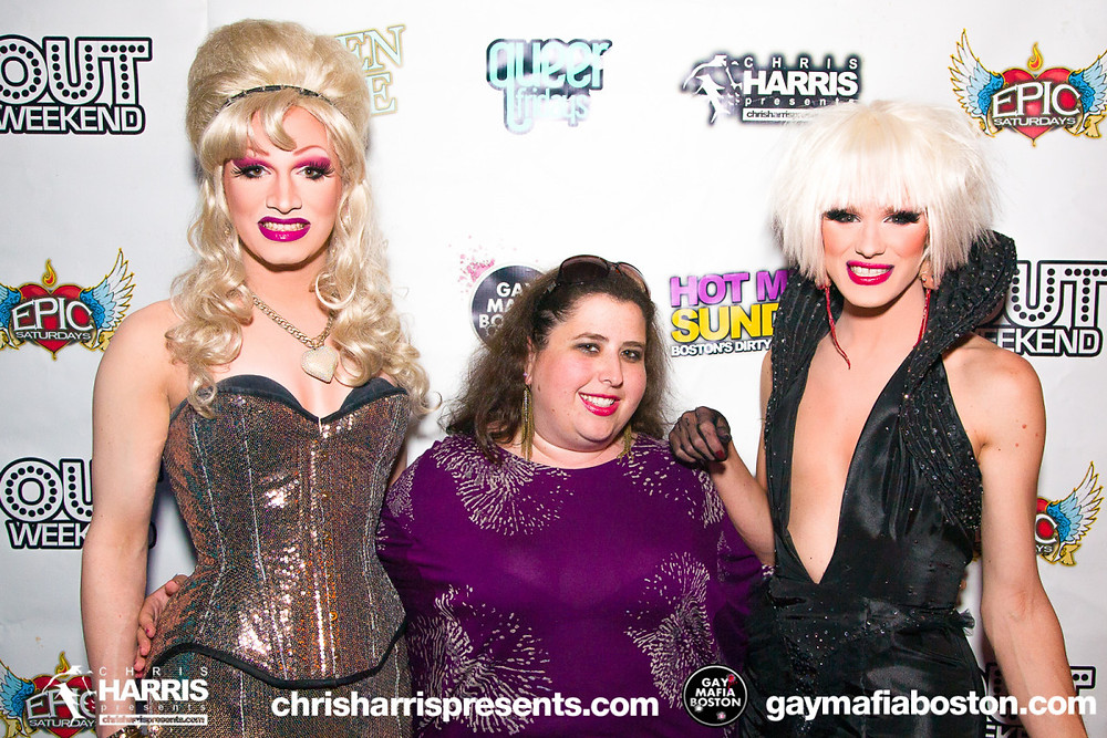 Jinx Monsoon, the author, and Ivy Winters at Guilt