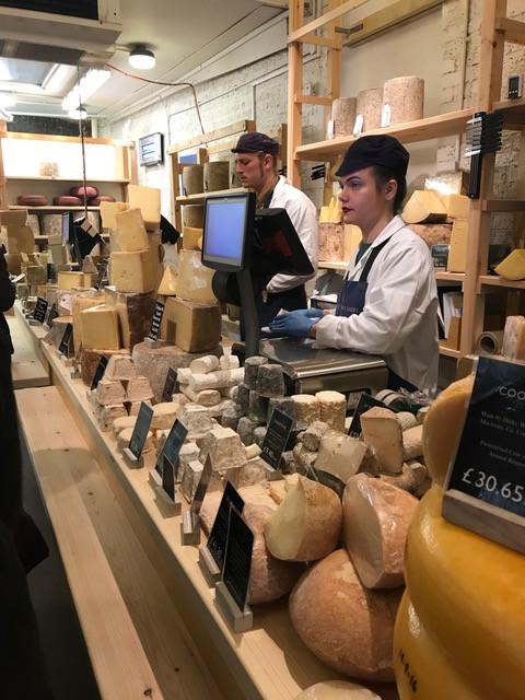 Cheeses at Neal's Yard Dairy, Borough Market, London 2018