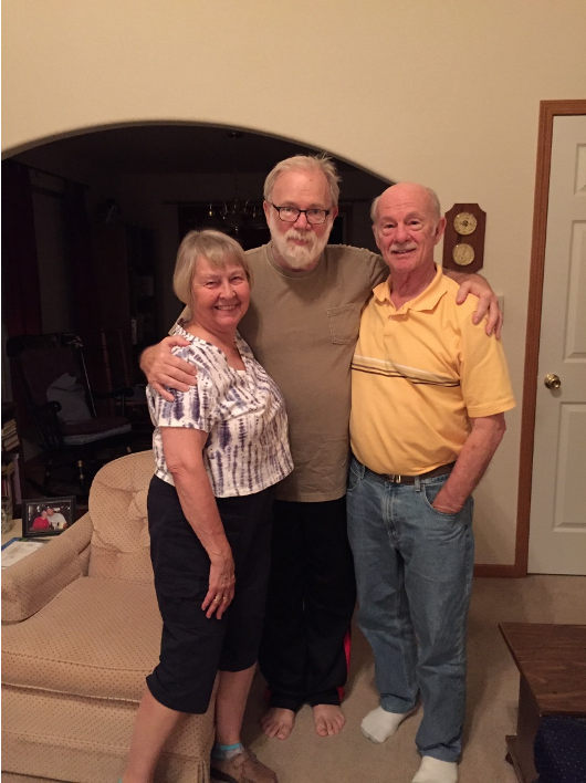 Derryl with his brother, Don, and sister-in-law Darlean