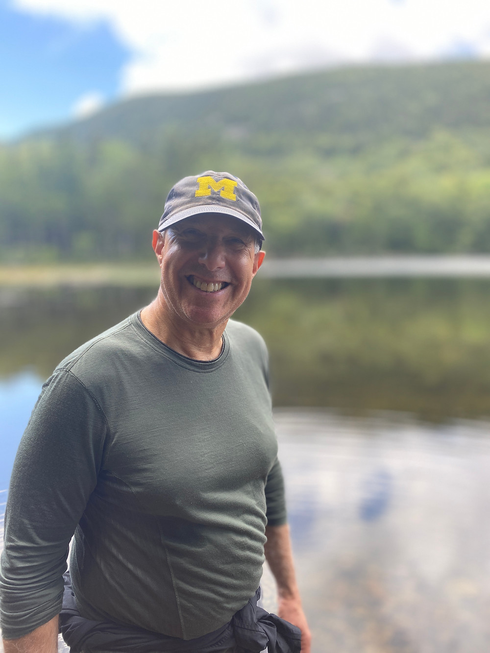 Hiking in Green Mountain National Forest in Vermont in August 2020
