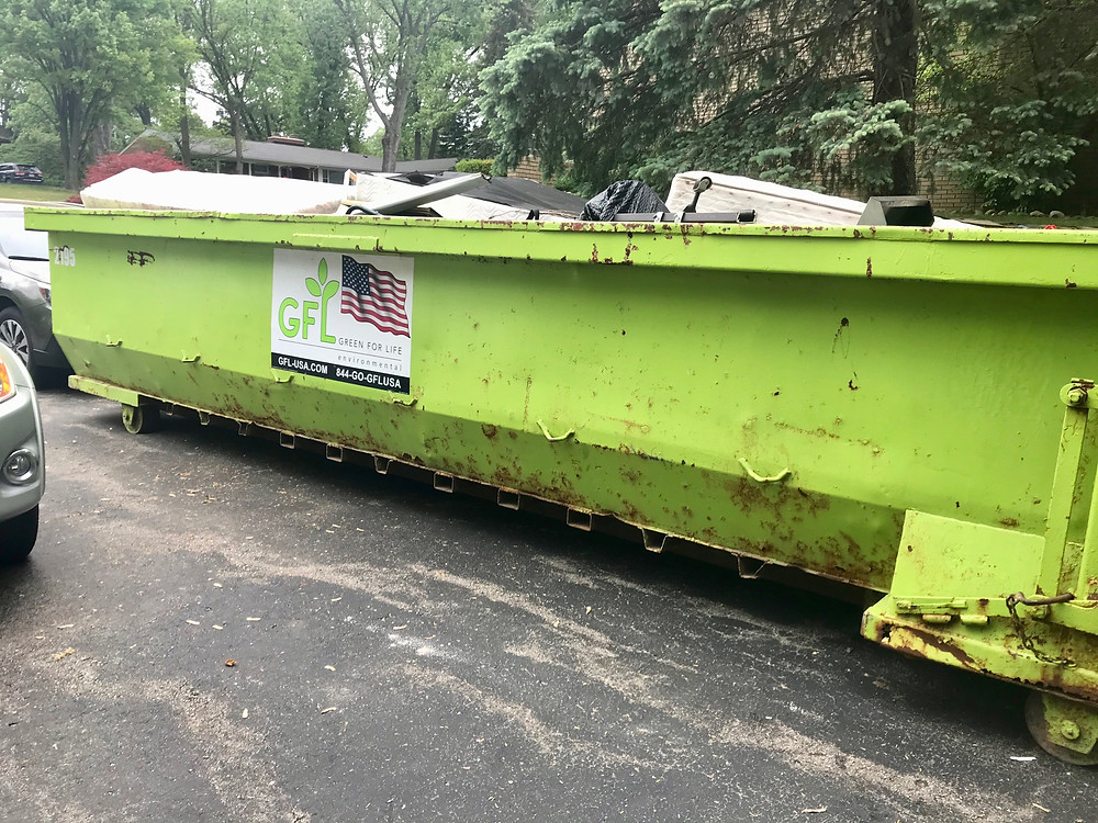 We filled a 3-ton dumpster