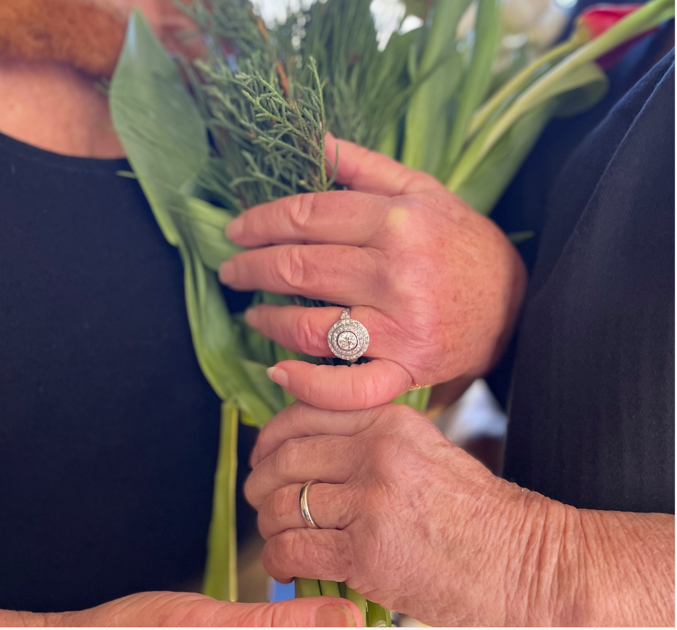 Our rings symbolized  our recent wedding