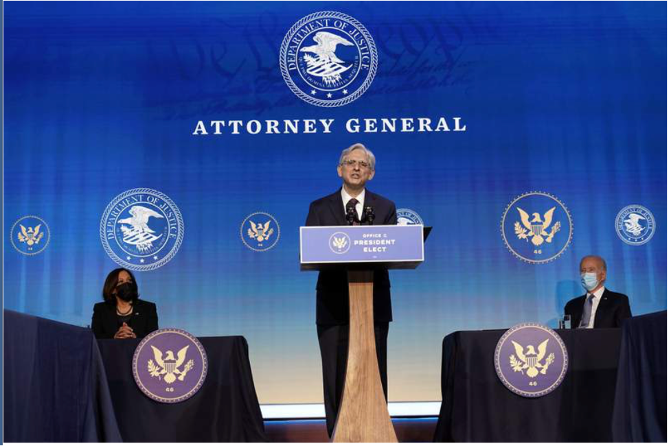 Consolation Prize: President-elect Biden selected Merrick Garland as his Attorney General on January 7