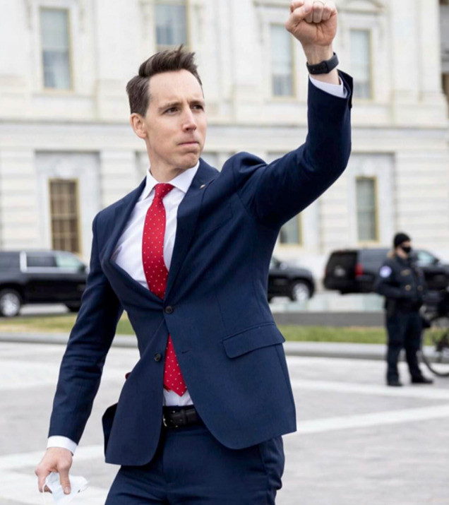 Josh Hawley's controversial raised fist on January 6 has helped him to rake in $3 million in campaign contributions