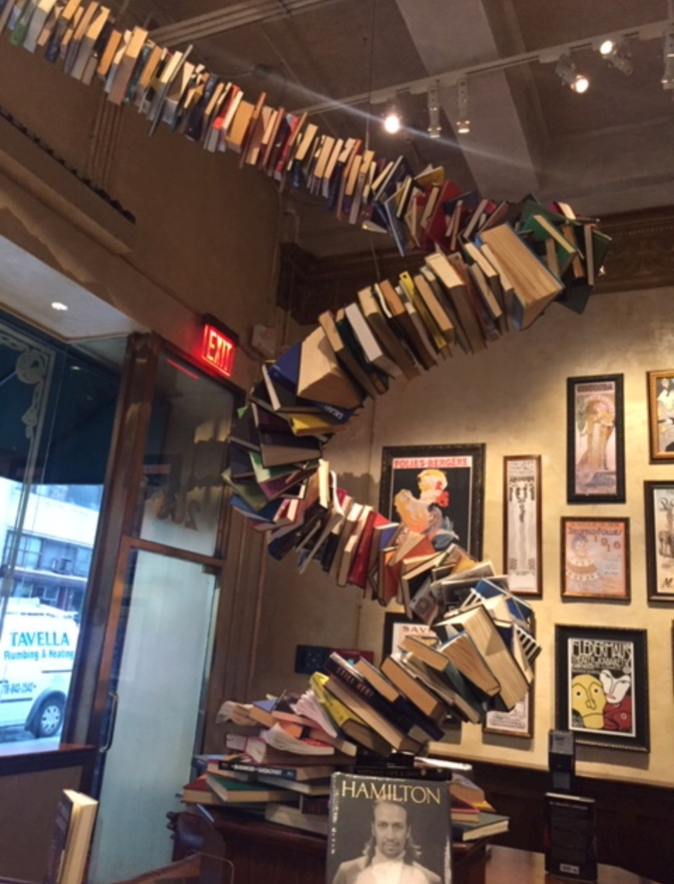 The Drama Book Shop's interior, a worm-shaped literary sculpture, is a dazzling homage to theater