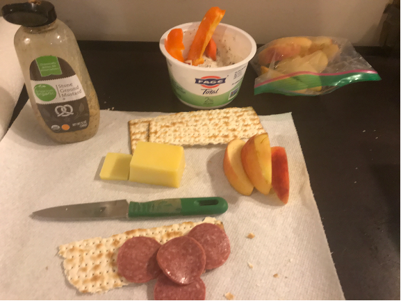 We made our own charcuterie for the hotel room