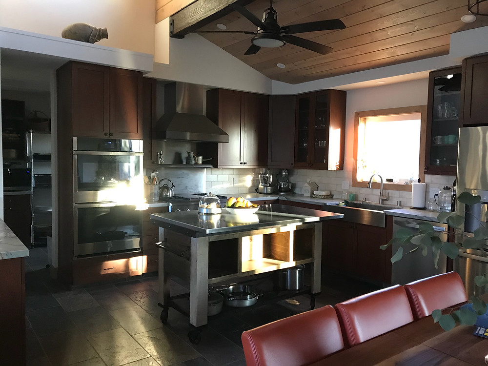 Bonnie's sprawling barn kitchen