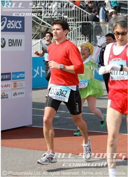 Polit running in the Tokyo Marathon