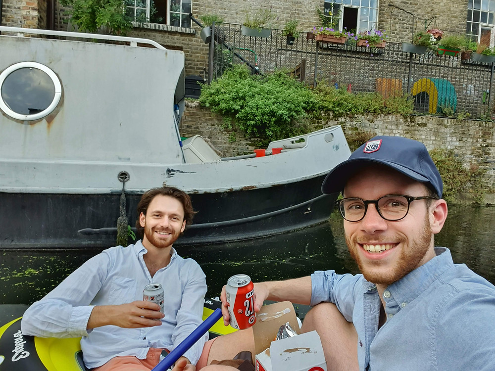 Taking a dinghy trip down London's Regent Canal