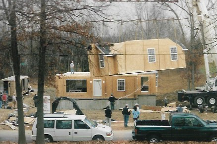 The new olde Rolfe ancestral home under construction
