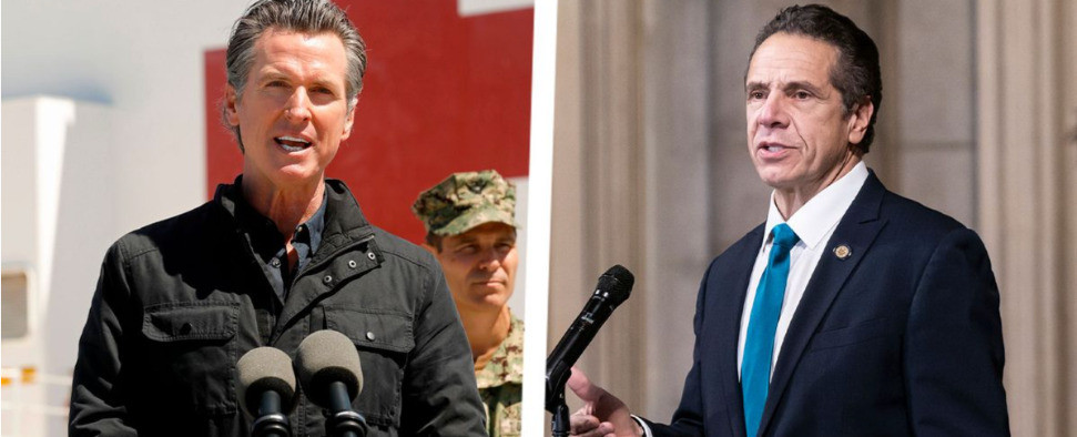 Embattled Governors Newsom and Cuomo are forging the way to government employee vaccination mandates