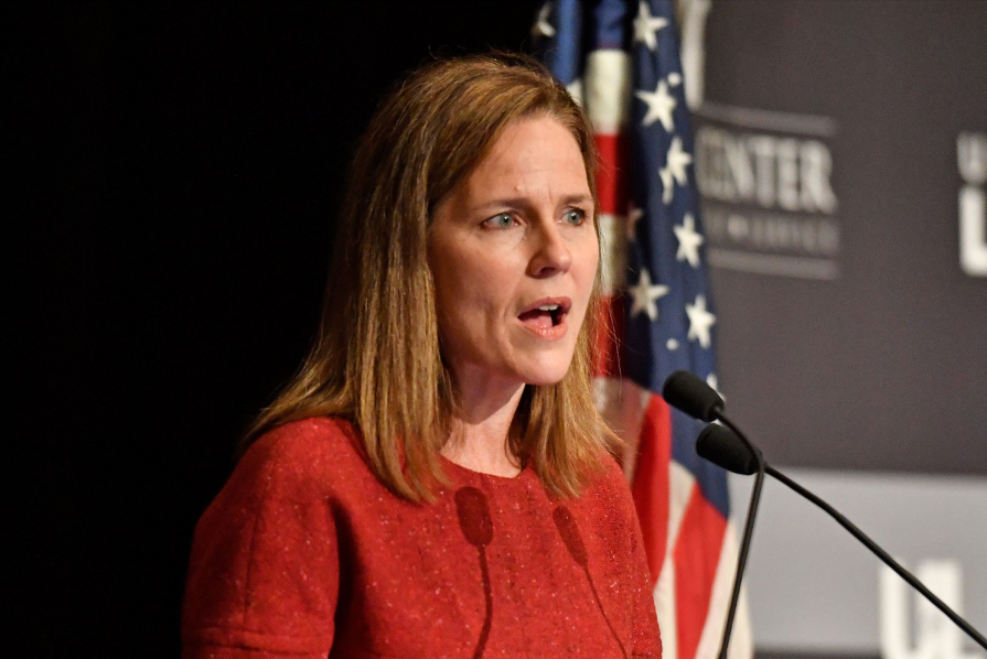 """Amy Coney Barrett denied that the conservative bloc of justices are """"partisan hacks"""""""