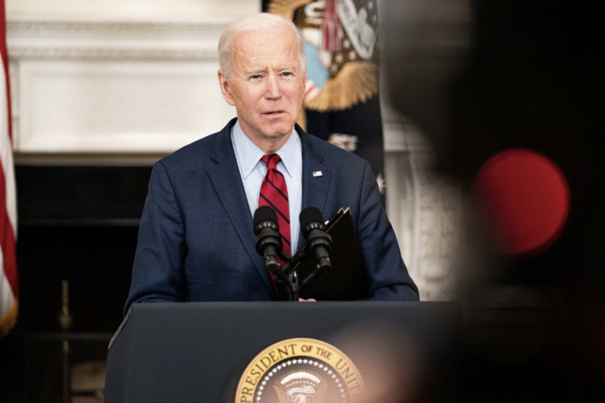 """President Biden called the need for gun-control laws """"an American issue,"""" not a partisan one"""