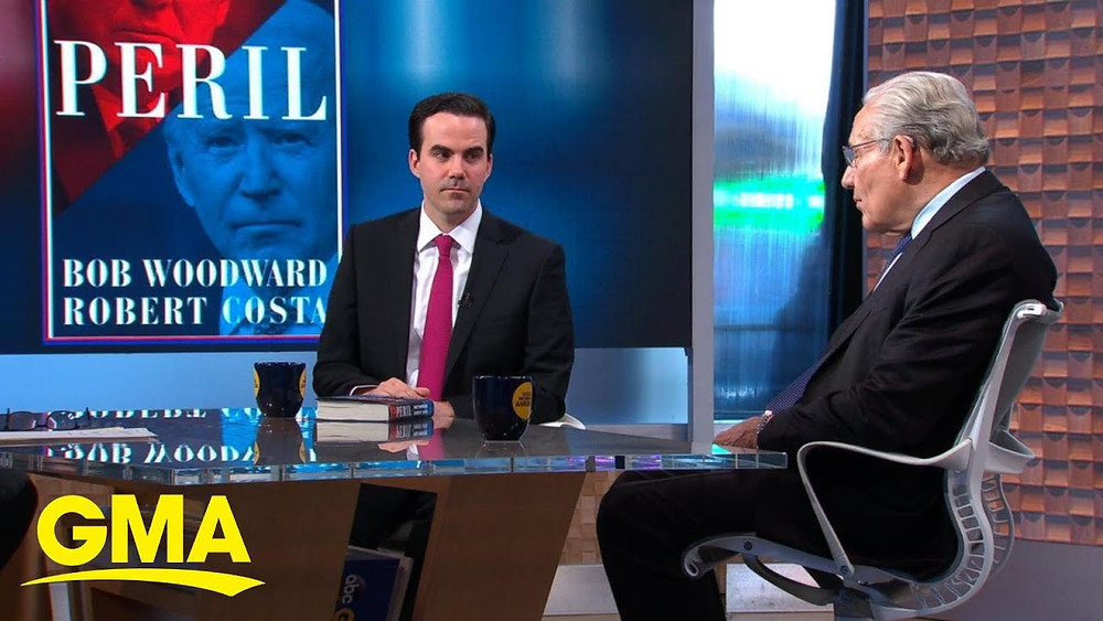 Co-authors Bob Woodward (right) and Robert Costa on Good Morning America last week