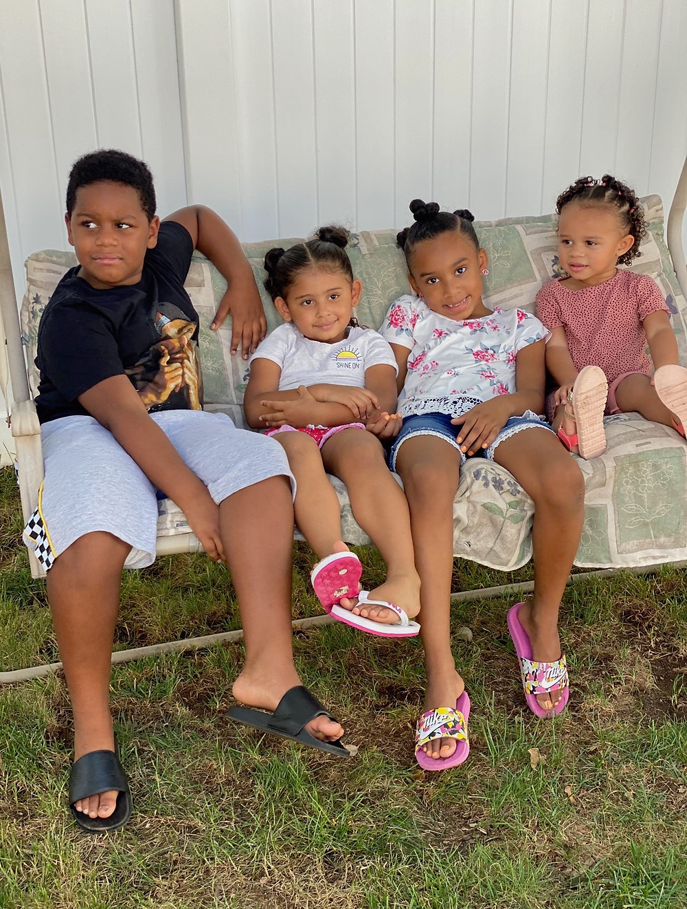 All in the Family: the four Davis grandchildren, ages 2 to 8