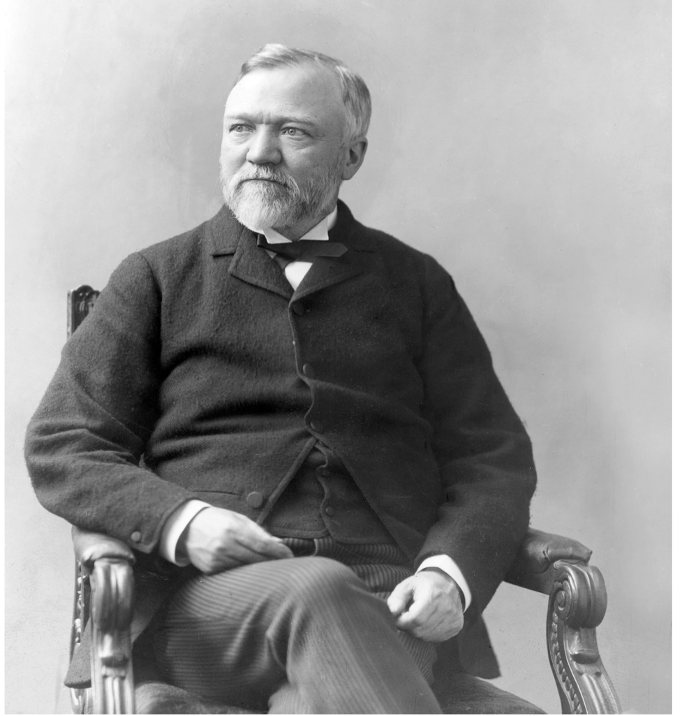 American industrialist-turned-philanthropist Andrew Carnegie (1835-1919): He knew how to give it away