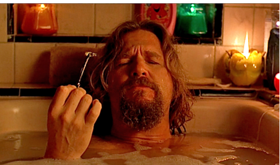 "Jeff Bridges getting educated in ""The Big Lebowski"""