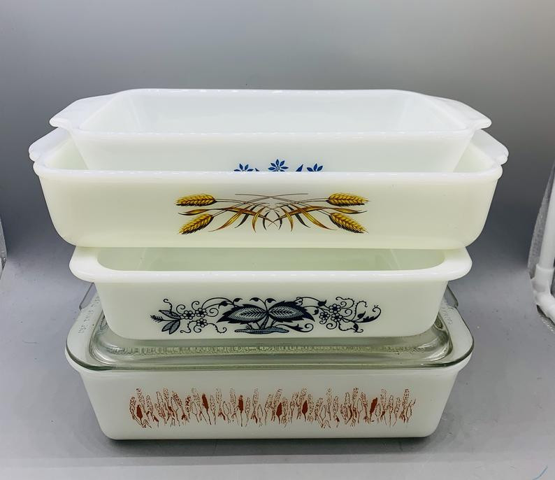 Typical casserole dishes from the '50s
