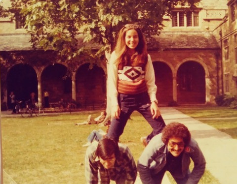 Hijinks in the University of Michigan Law Quad, 1974
