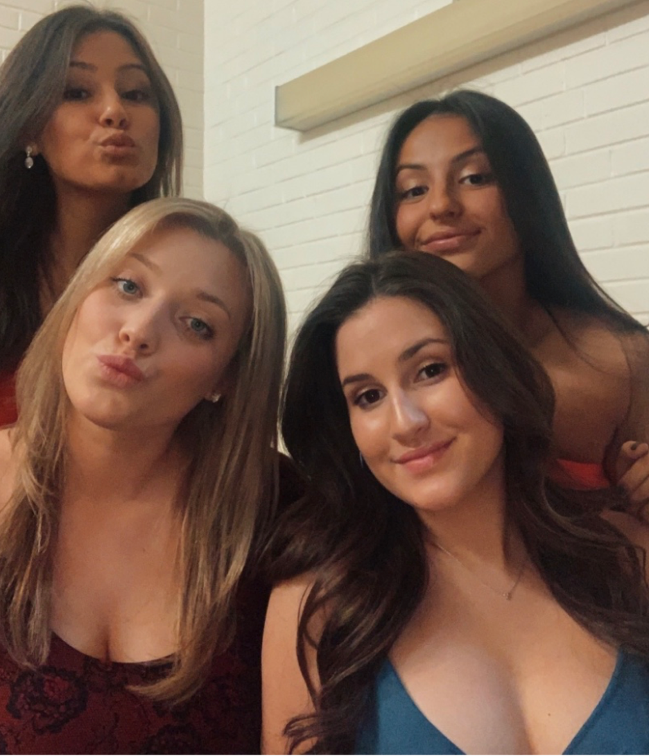 Ava (bottom right) with her roommates, Kiersten (bottom left), Brittney (top left) and Sabrina (top right)