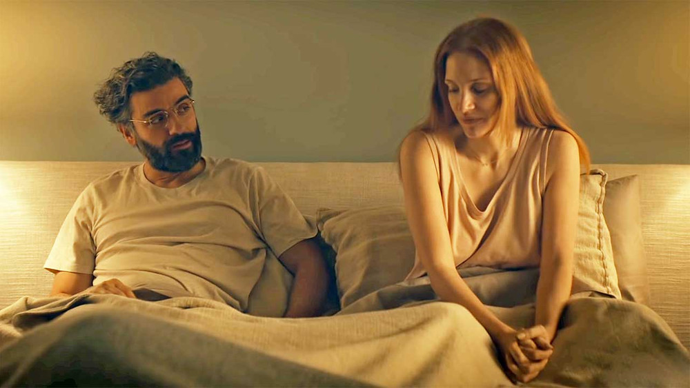 Jessica Chastain and Oscar Isaac in Scenes from a Marriage (2021)