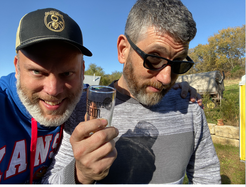Happy days in Lawrence, Kansas for Mike Silverman (left) and Dave Greenbaum (right)