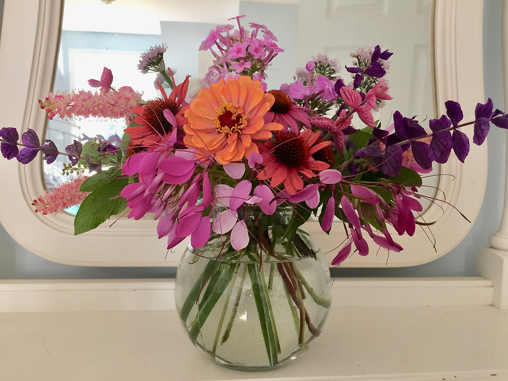 One thing to do with a great abundance of flowers: Make bouquets!