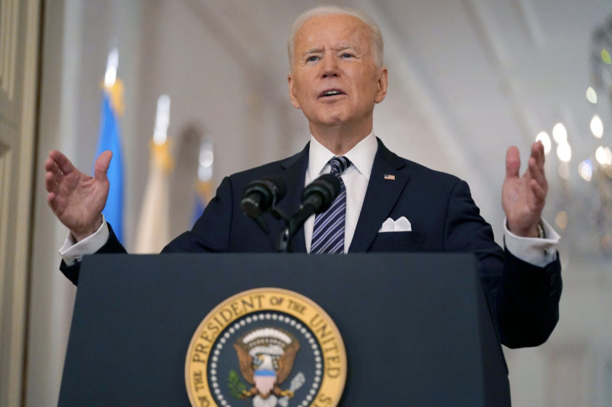 …while President Joe Biden's first prime-time address to the nation was delivered on March 11, almost exactly 88 years later