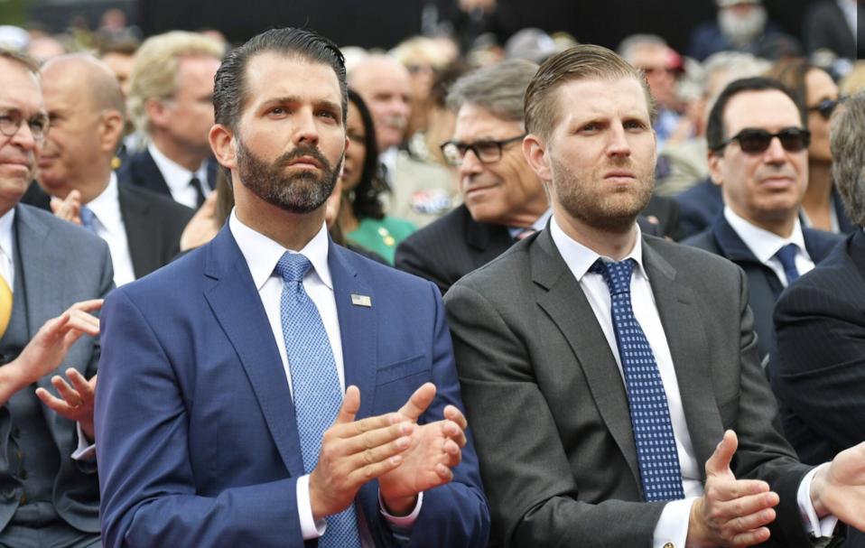 Brothers Donald J. Trump Jr. and Eric Trump