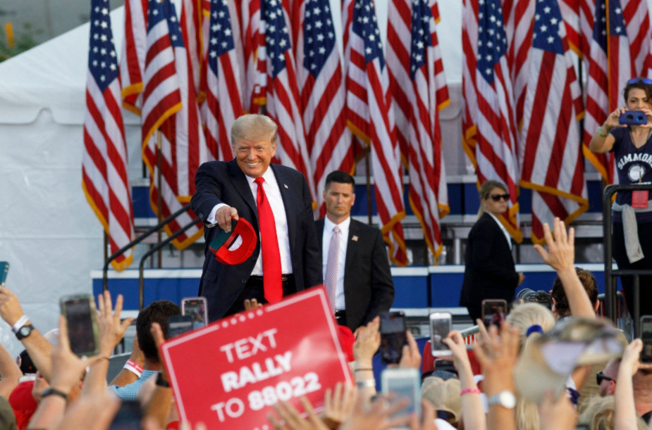 Trump's rally in Ohio on Monday marked his first mega-event since leaving office
